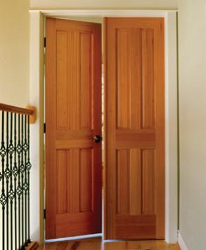 Raised 4 Panel F-44, Authentic Wood Door, HomeStory