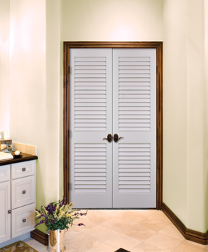 Plantation Louvered, Glass - Authentic Wood Door, HomeStory