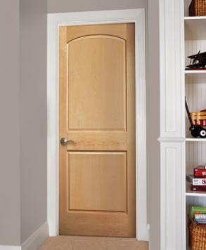 Raised 2 Panel Arch F-465, Authentic Wood Door, HomeStory