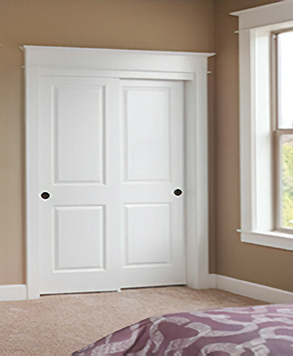 2 Panel Square Bypass HomeStory & Closet Doors and Bi-Fold Folding Doors | HomeStory Doors