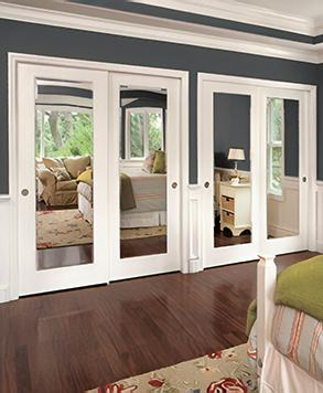 Mirror Square Bypass HomeStory & Closet Doors and Bi-Fold Folding Doors   HomeStory Doors