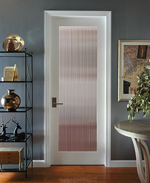 Reeded Glass, Glass - Authentic Wood Door, HomeStory