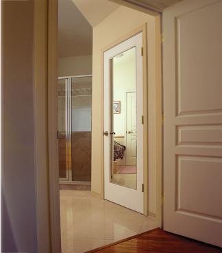 Mirror SQ Top, Glass - Authentic Wood Door, HomeStory
