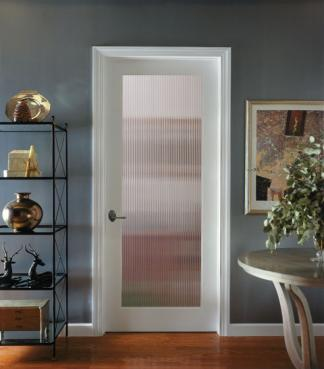 1L Reeded OVOLO , Glass - Authentic Wood Door, HomeStory