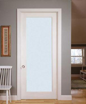 White Laminate Glass, Glass - Authentic Wood Door, HomeStory