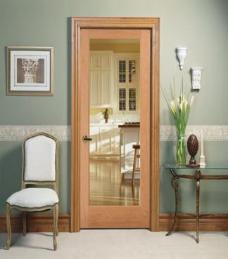 1L Clear OVOLO 1501, Glass - Authentic Wood Door, HomeStory