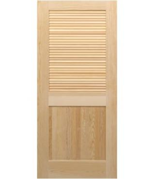 Half louvered door