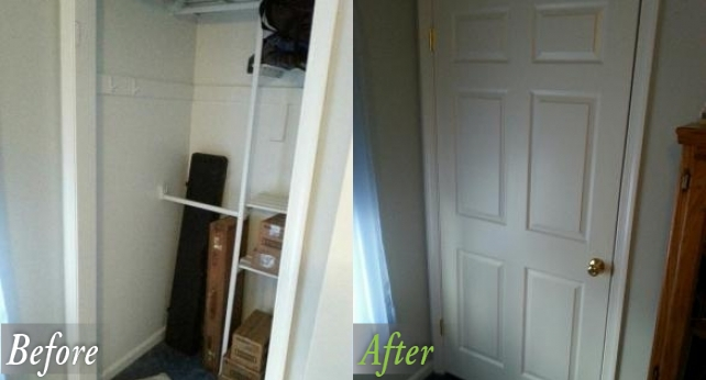 bed closet Before and After