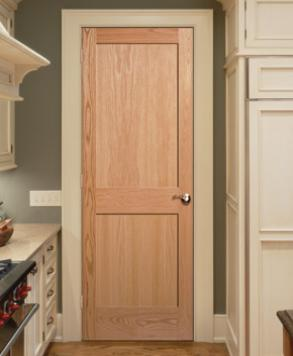 Flat 2 Panel Square, Authentic Wood Door, HomeStory