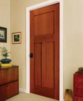 Shaker 3P SQ 8033, Authentic Wood Door, HomeStory