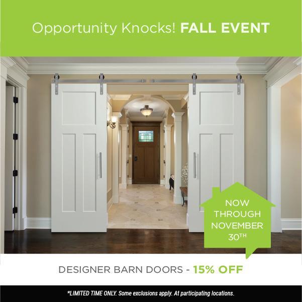 Fall Event Barn Doors 15% Off
